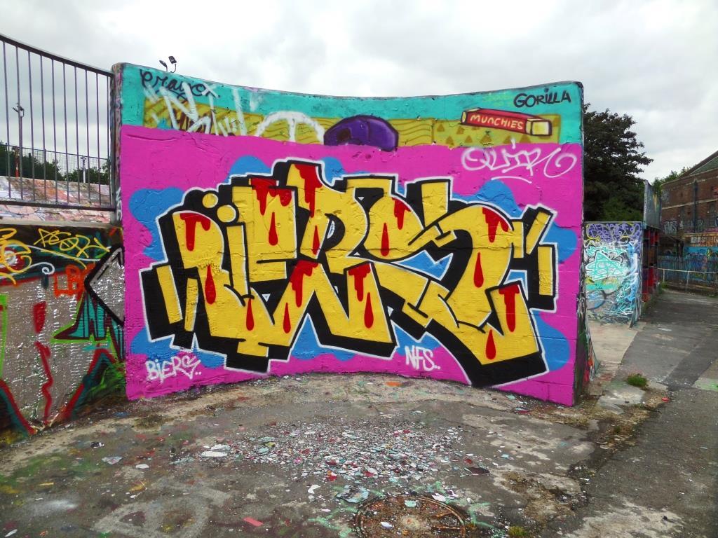 Biers, Dean Lane skatepark, Bristol, July 2017
