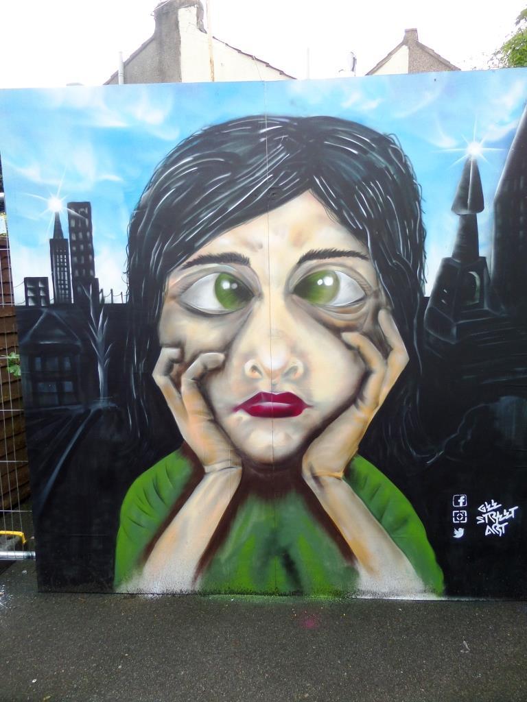 Gee street art, Upfest, Bristol, July 2017