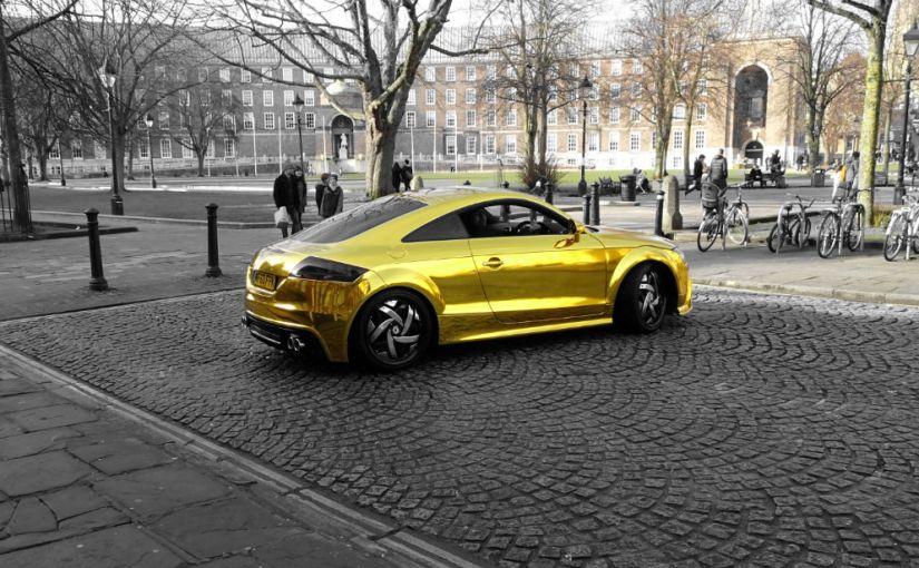 Gold car, haiku