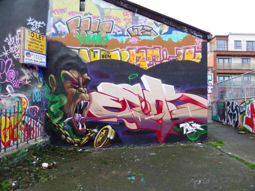 3Dom and Epok, Dean Lane, Bristol, January 2018