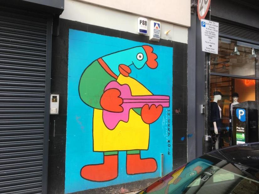 Thierry Noir, Shoreditch, London, February 2018