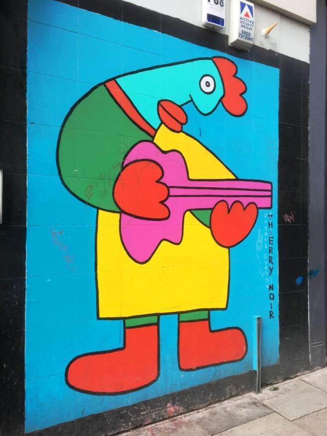 Thierry Noir, Shoreditch, London, February 2018