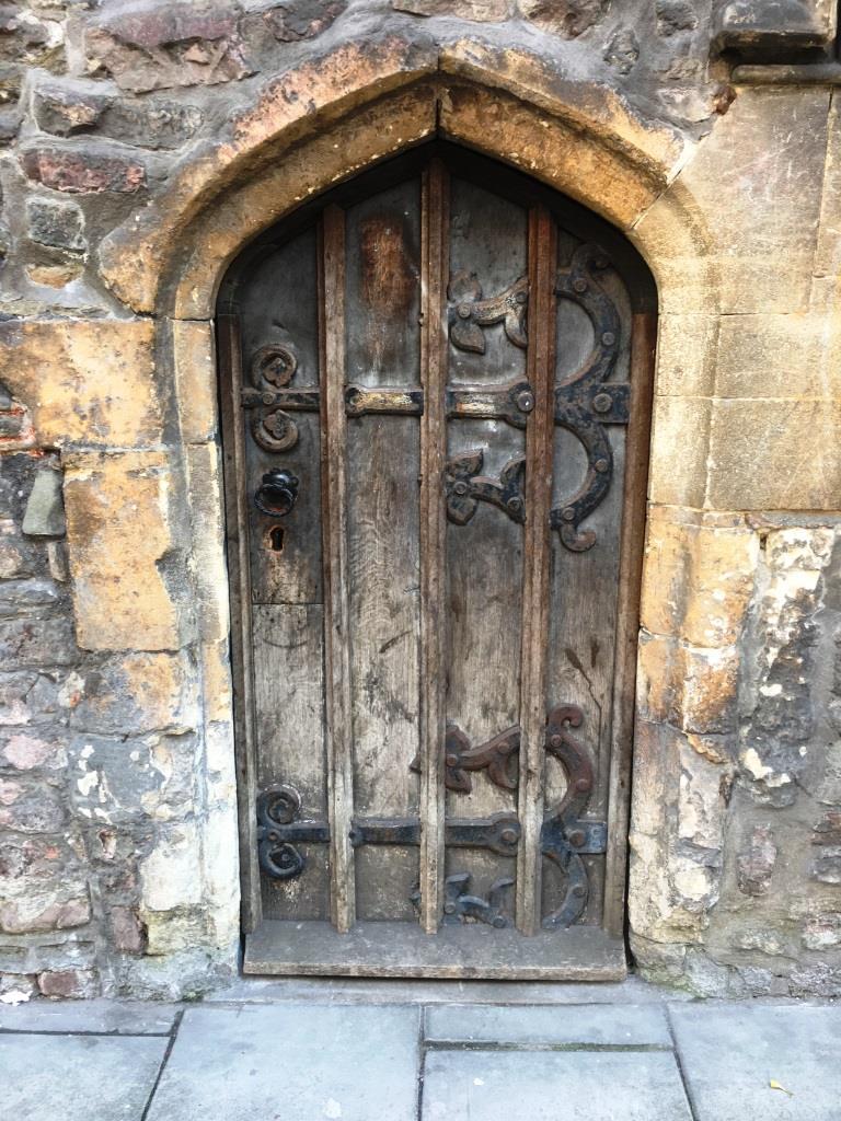Crypt door, Church of St John the Baptist, Bristol.
