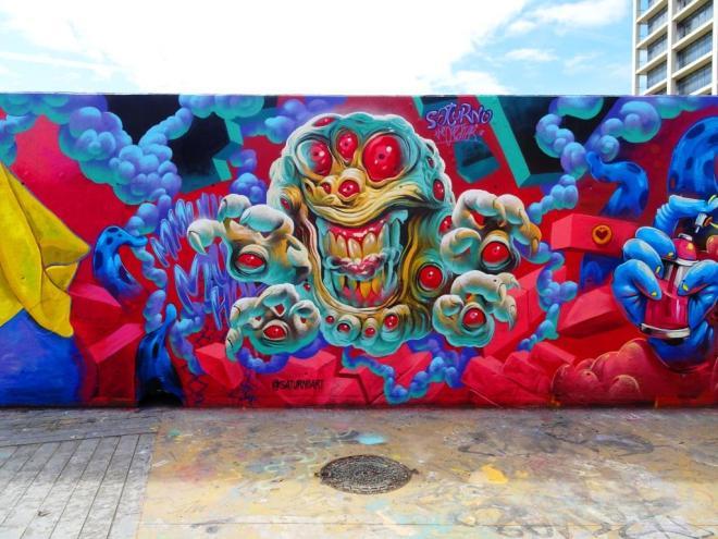 Saturno, Jardins de les Tres Xemeneies, Barcelona, March 2018