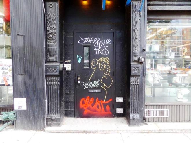 No 300, a door in East Village, New York