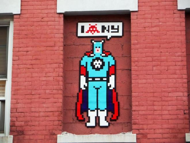Invader, Mulberry Street, New York, October 2017