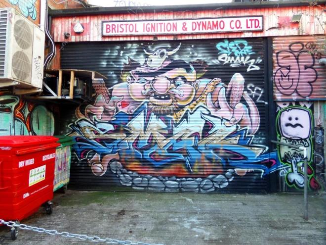 Sled One and Smak, Moon Street, Bristol, April 2016