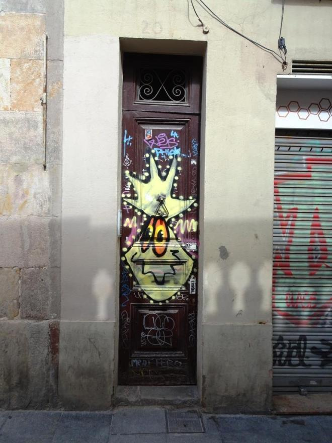 Barcelona door, March 2018