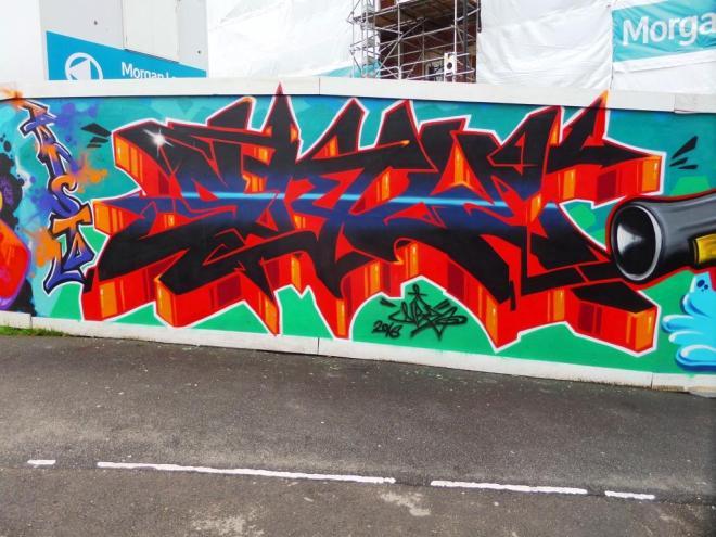 Dibz, Brunswick Square hoardings, Bristol, March 2016