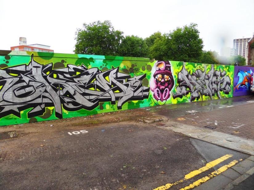 Soker, Cheo and Hemper, Old Bread Street, Bristol, September 2016