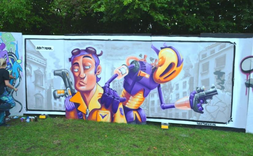 Size Two and Laura Schindler, Upfest, Bristol, July 2017