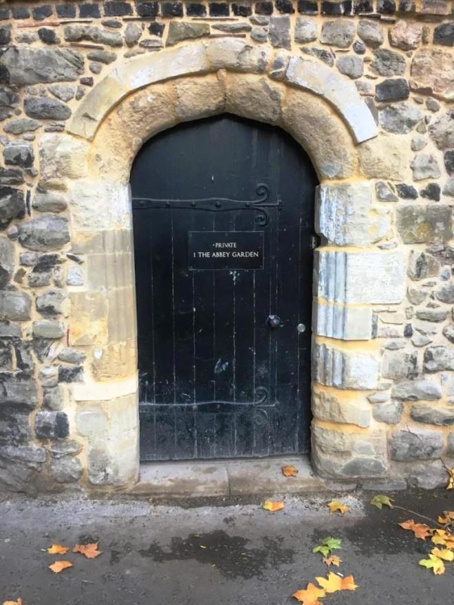 Door to the Abbey garden, Westminster