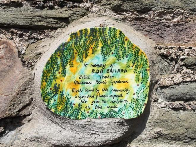 Commemerative plaque , Bob Ballard, Bristol, Thursday Doors