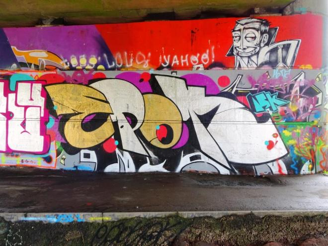 Epok, Brunel Way bridge, Bristol, June 2018