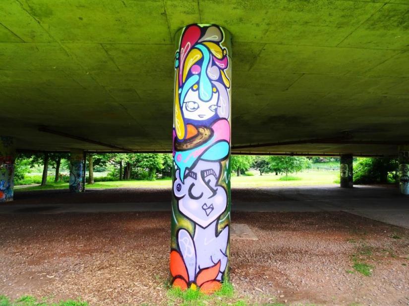 Face 1st and Tasha Bee, Brunel Way bridge, Bristol, June 2018