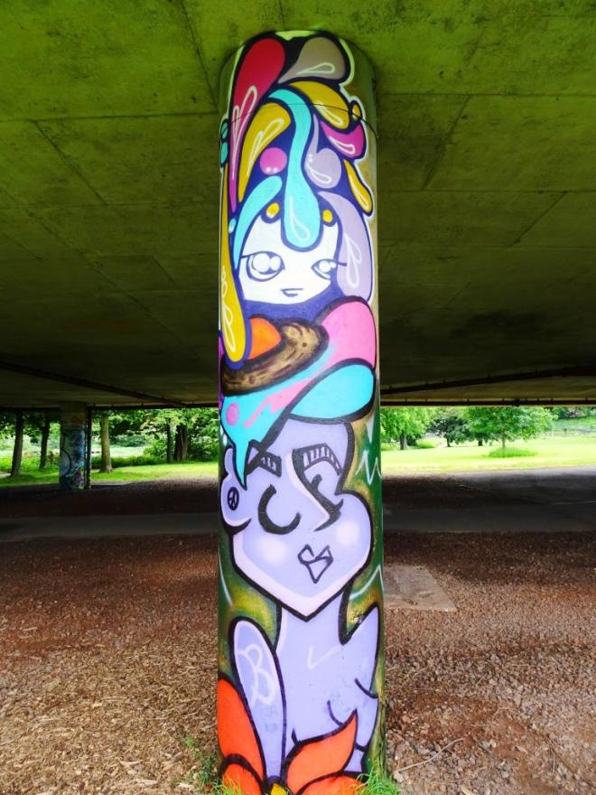 Face 1st and Tasha Bee, Brunel Way bridge, Bristol, June 2018