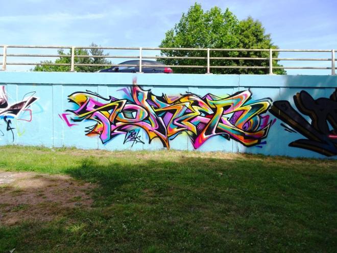 Soker, M32 roundabout, Bristol, June 2018