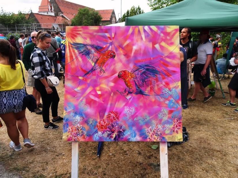 Emily Donald, Upfest, Bristol, July 2018