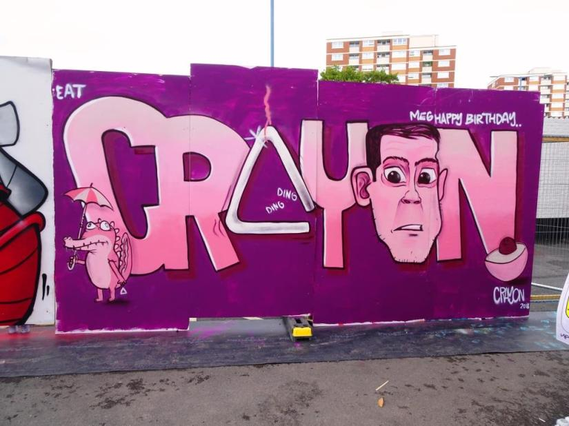 Kid Crayon, Upfest, Bristol, July 2018