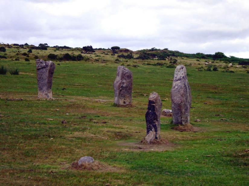 The Hurlers at Minions, Cornwall, August 2018
