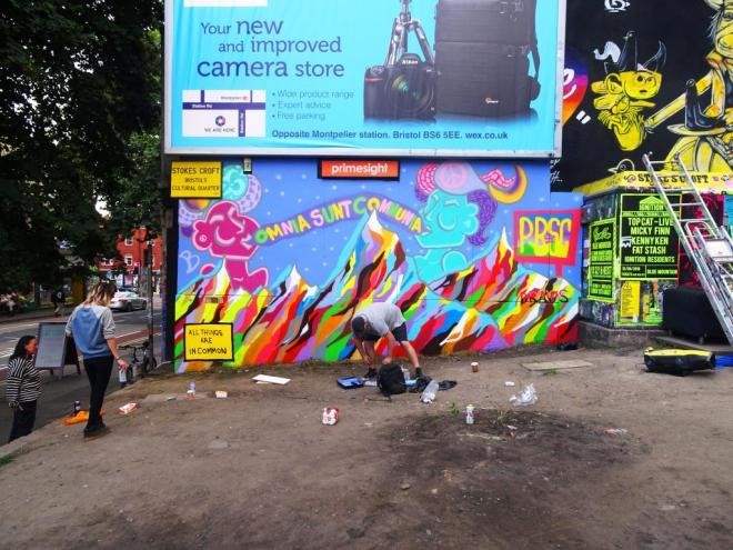 Mr Draws and Tasha Bee, Turbo Island, Bristol, August 2018
