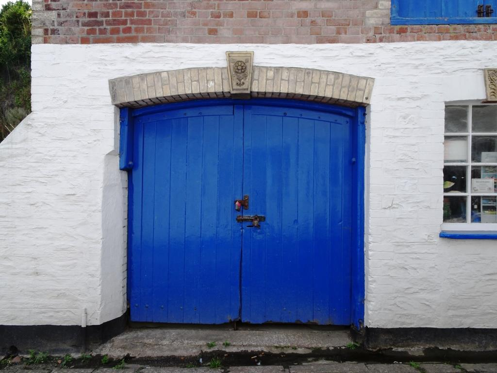 Fowey door, August 2018