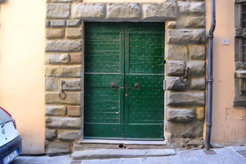 Door in Cortona, Tuscany, Italy
