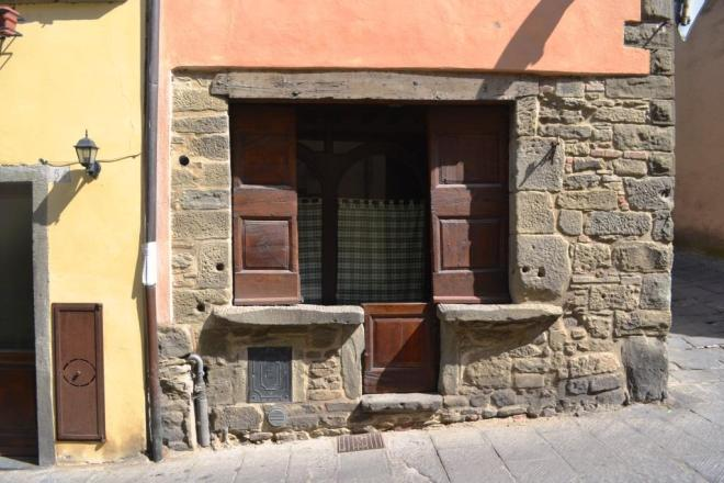 Interesting door, Via Dardano, Cortona, Umbria, Italy