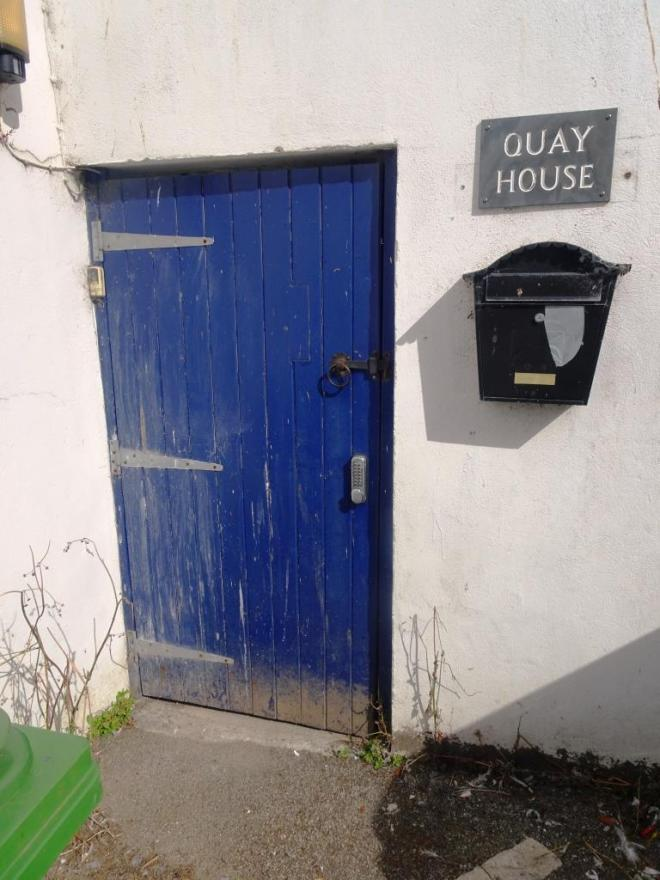 Quay House door, Fowey, Cornwall, September 2018
