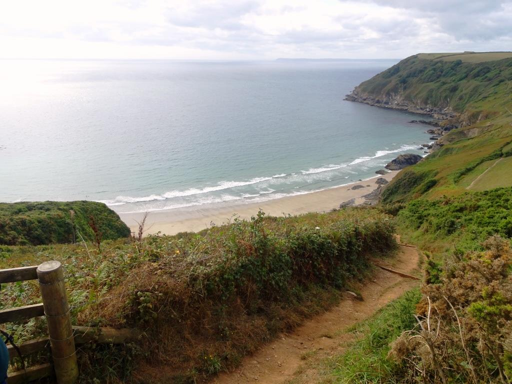 Lantic Bay, a hidden jewel, Cornwall September 2018