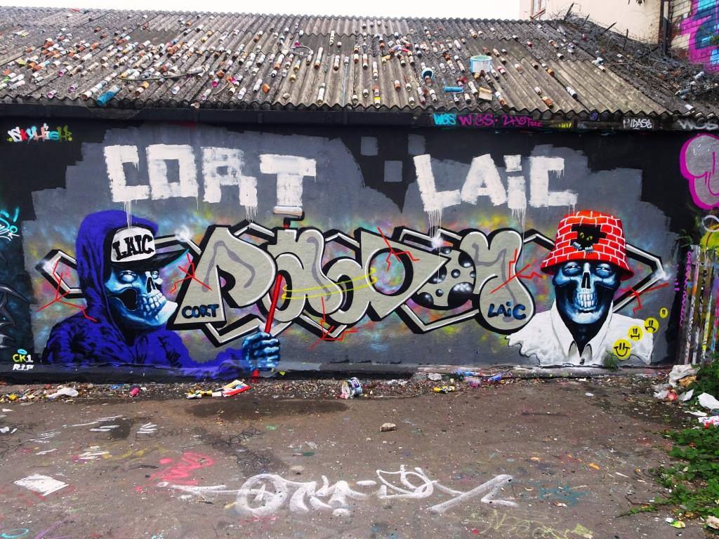 Laic 217 and Cort, Dean Lane, Bristol, September 2018