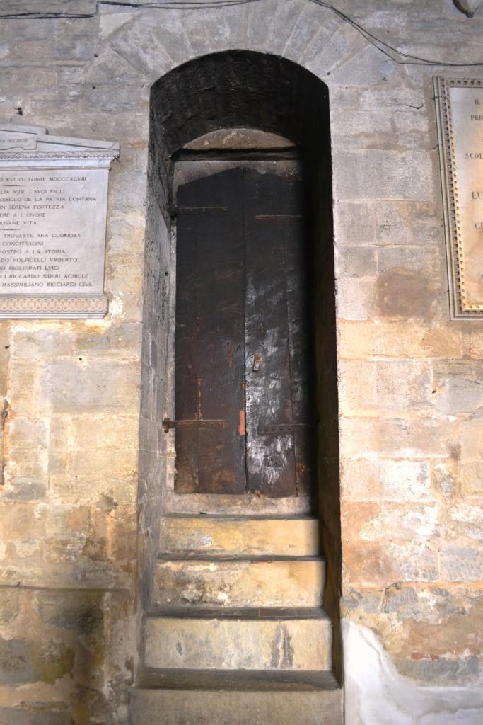 Steps and door inside the Commune di Citta di Castello
