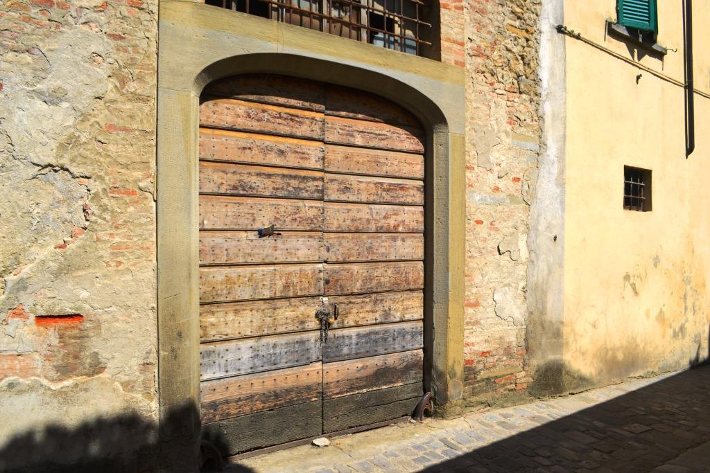 Double door, Citta di Castello, Umbria, Italy
