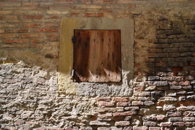 OK, so it's a window pretending to be a door, Citta di Castello, Umbria, Italy