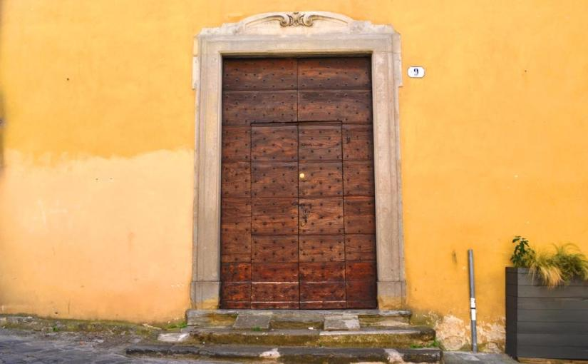 Grand door, Citta di Castello, Umbria, Italy