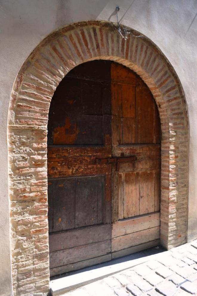 Double door, Citta di Castello, Umbria, Italy