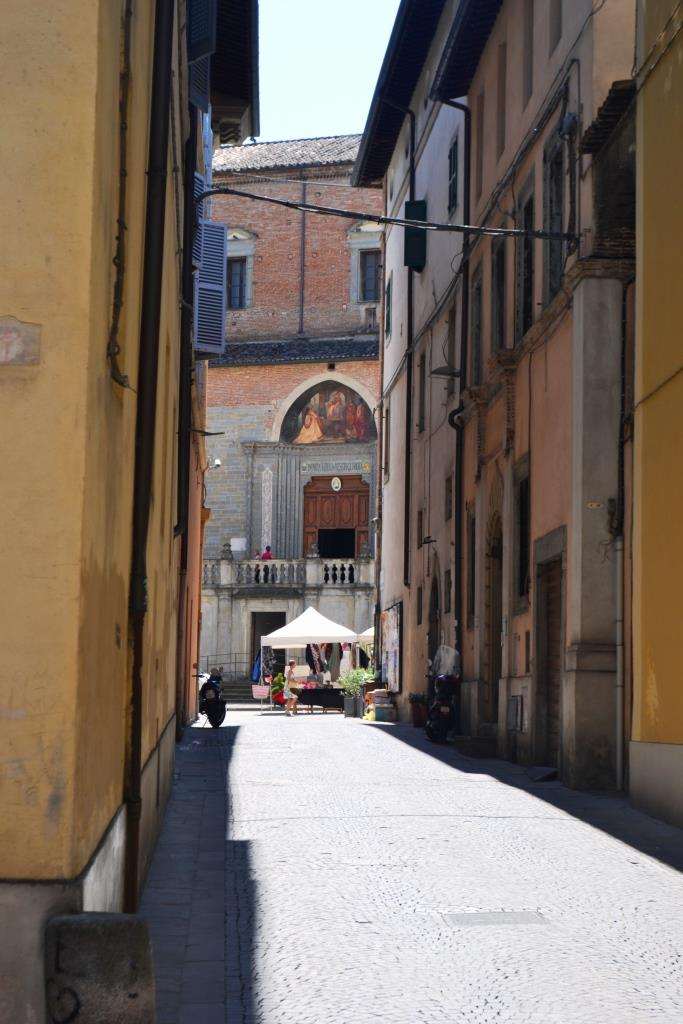 Main door of the Cathedral of St Florido and Amanzio, Citta di Castello, Umbria, Italy