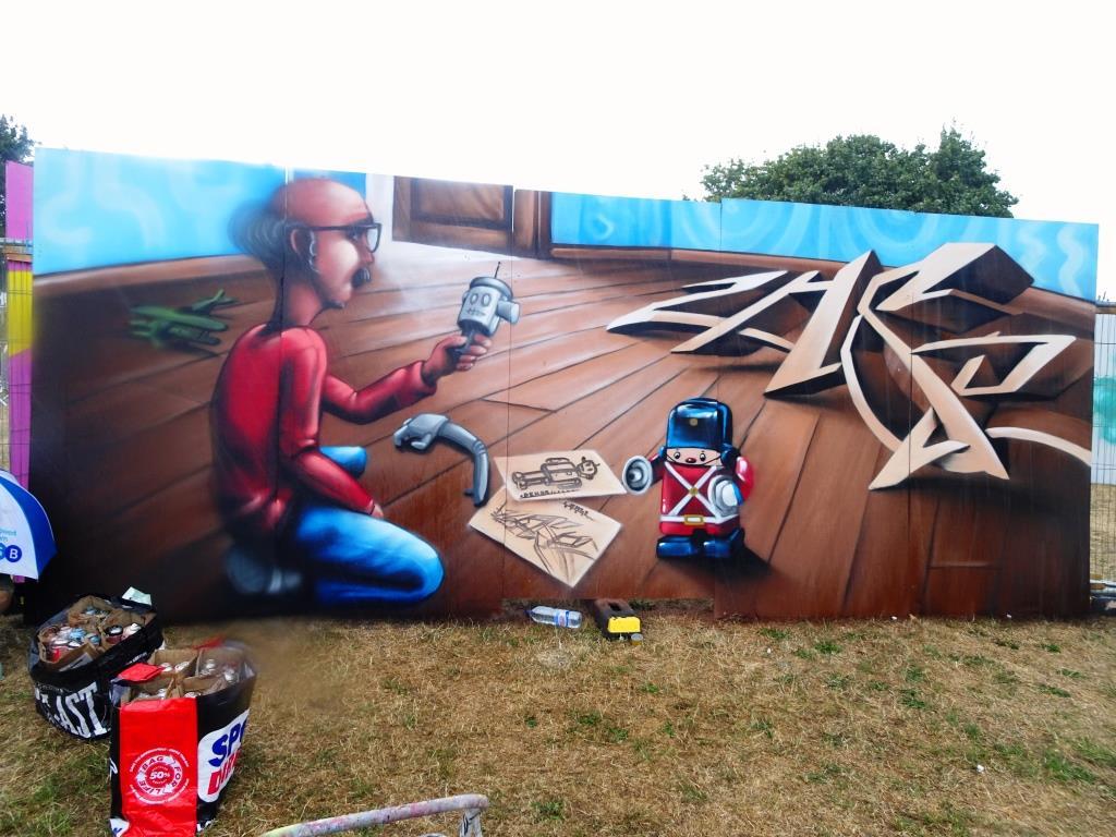Zase and Dekor, Upfest, Bristol, July 2018