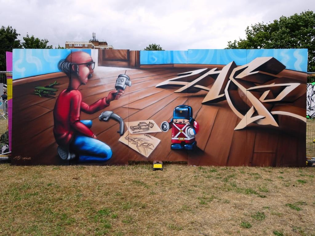 Zase and Dekor, Upfest, Bristol, July 2018