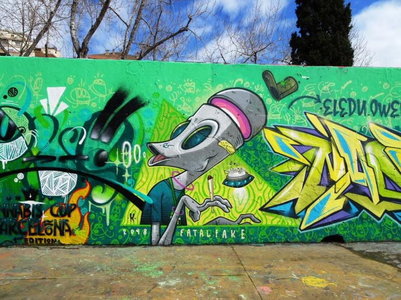 Kram, Jardins de les Tres Xemeneies, Barcelona, March 2018