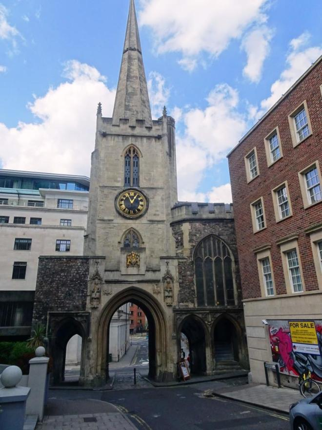 The last remaining gateway in the city of Bristol, Church of St John the Baptist, Bristol