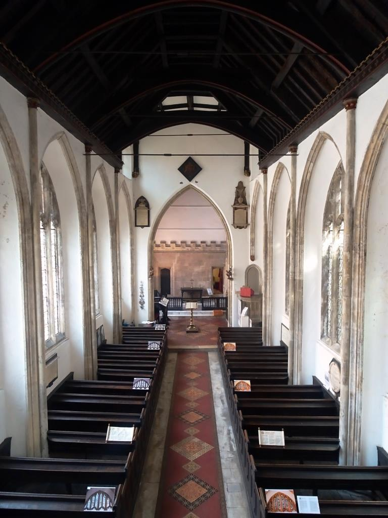 Church of St John the Baptist, nave seen from the organ gallery, Bristol