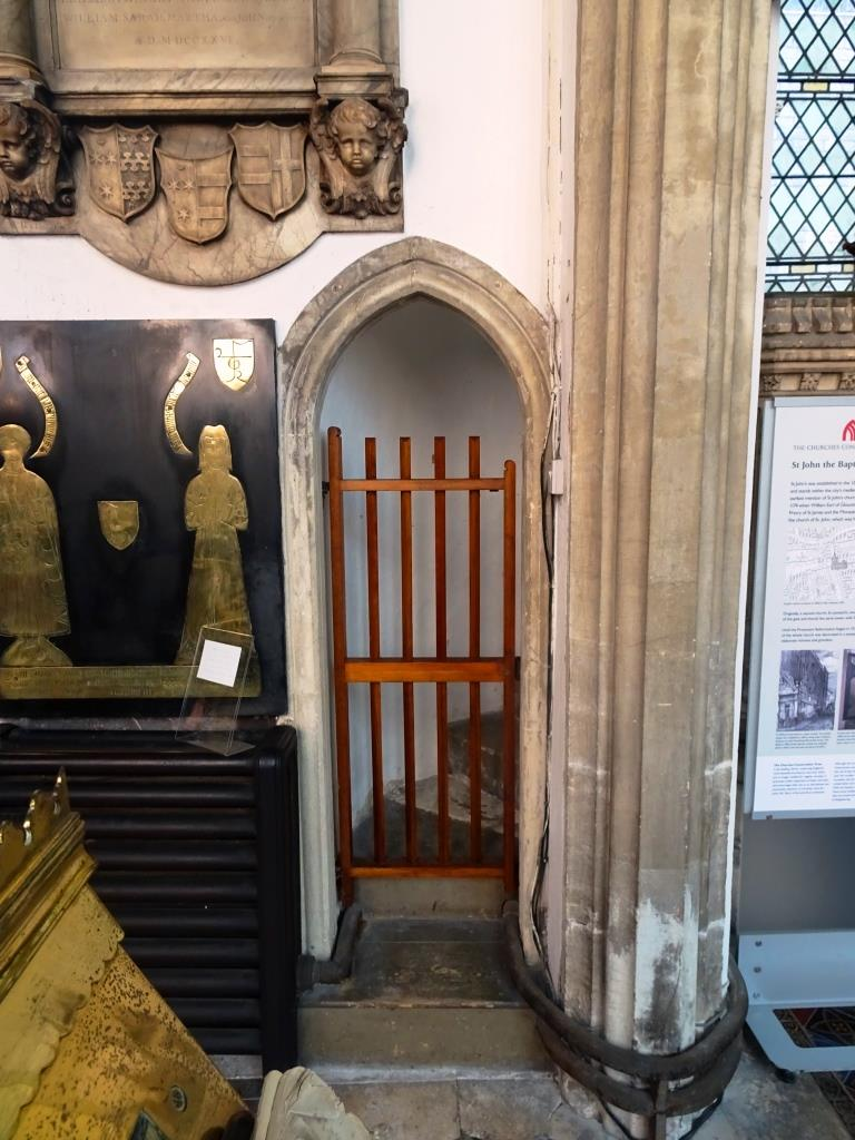 Door gate to the pulpit, Church of St John the Baptist, Bristol