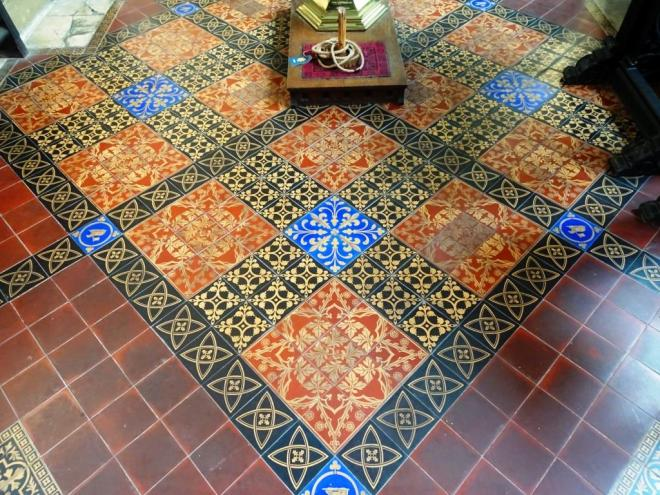 Floor tiles, Church of St John the Baptist, Bristol