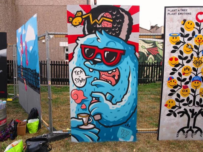 Octofly Art, Upfest, Bristol, July 2018