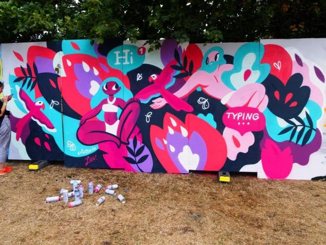 Antonia Lev, Upfest, Bristol, July 2018