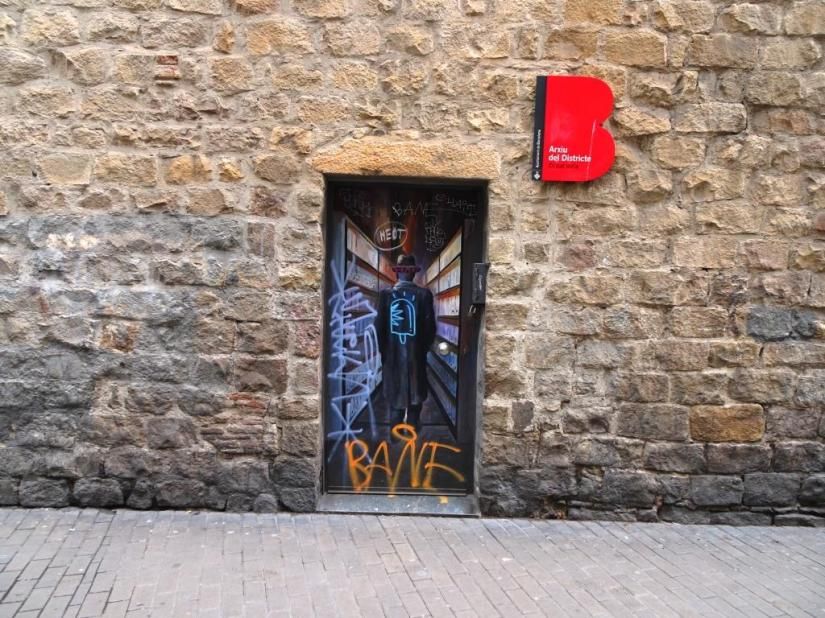Door, Barcelona, March 2018