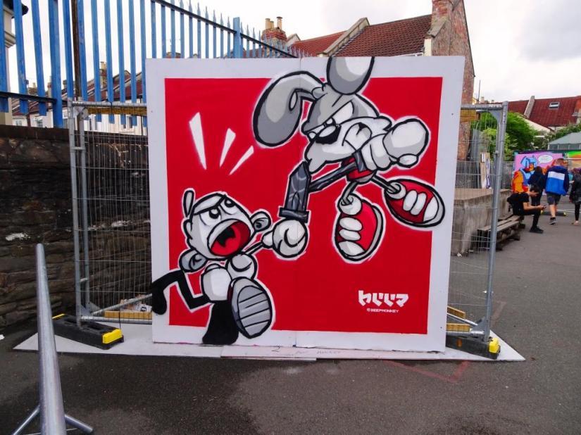 Beep Monkey, Upfest, Bristol, July 2018