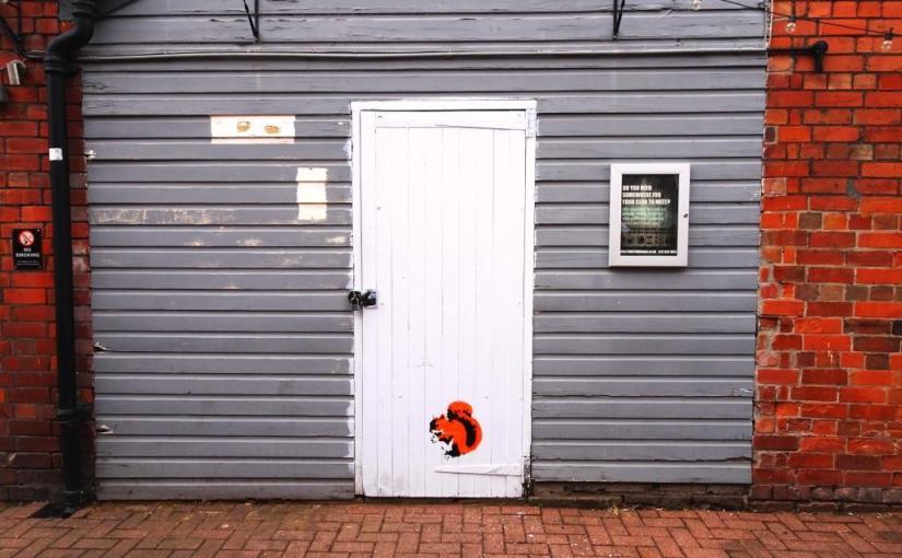 Thursday doors, The Steam Crane, Stewy squirrel, Bristol