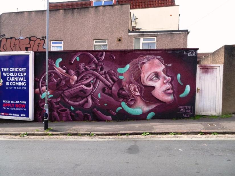 Caro Pepe and AgeAge, Upfest, Bristol, July 2018